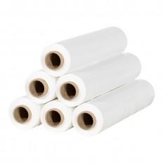 Stretchfolie, Handwickelrollen, 20 Micron, 50 cm x 300 Meter, Weiß