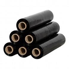 rekfolie handrollen handwikkelfolie 20 micron zwart